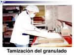 tamizaci n del granulado