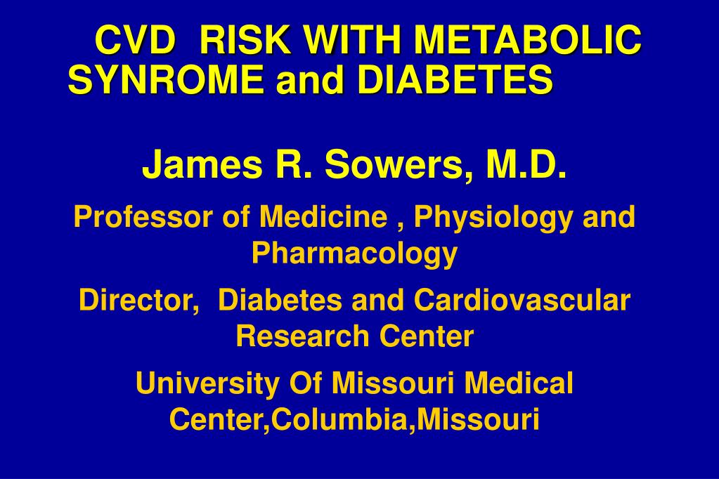 cvd risk with metabolic synrome and diabetes l.