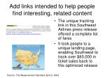 add links intended to help people find interesting related content