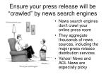 ensure your press release will be crawled by news search engines