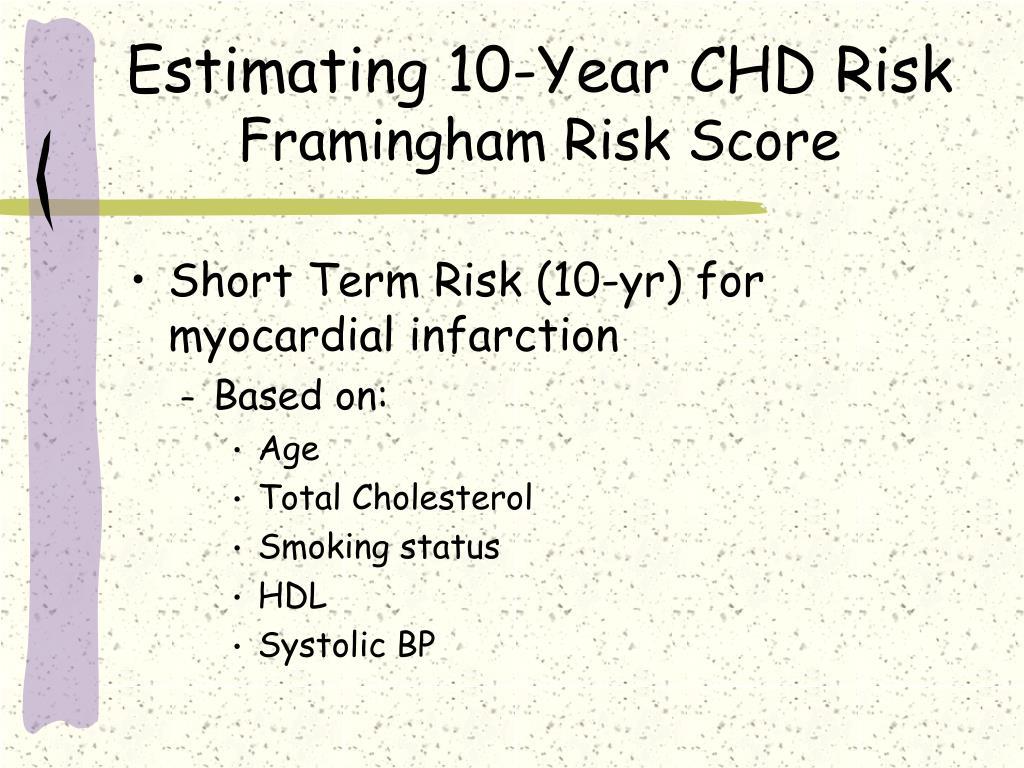 Estimating 10-Year CHD Risk