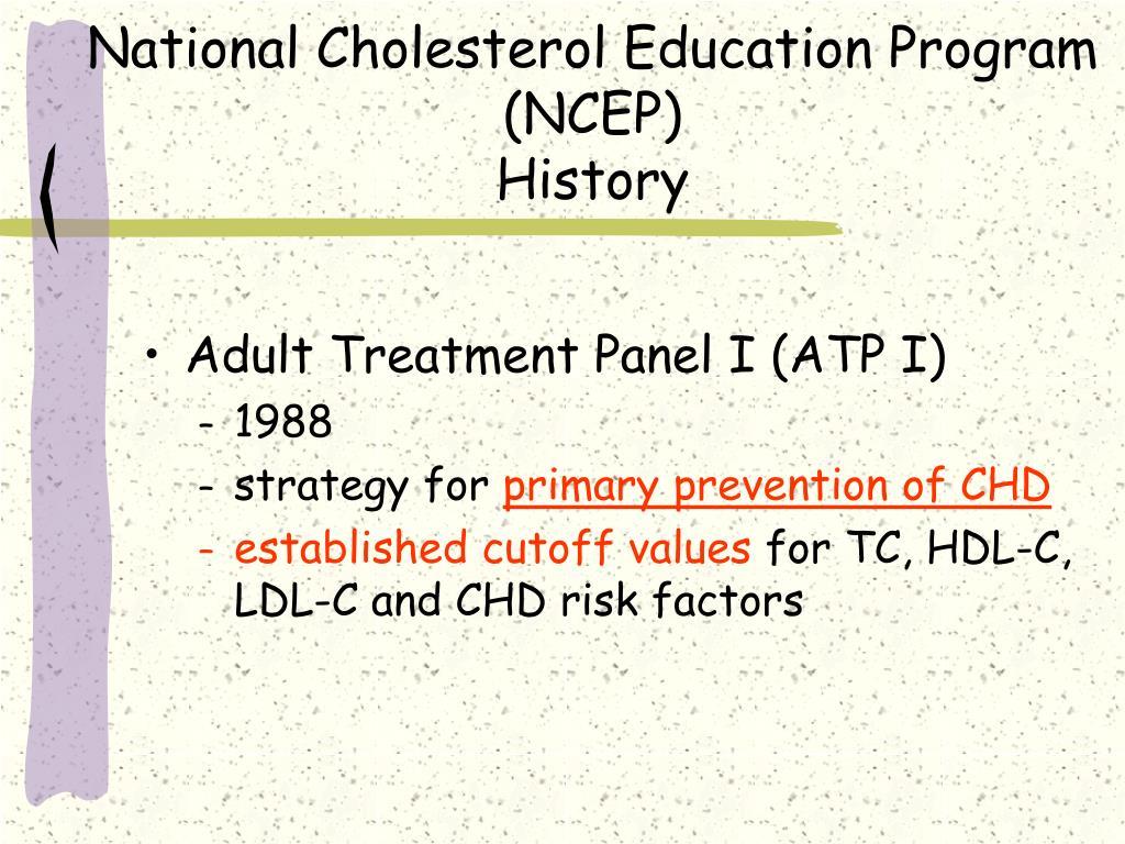 National Cholesterol Education Program (NCEP)