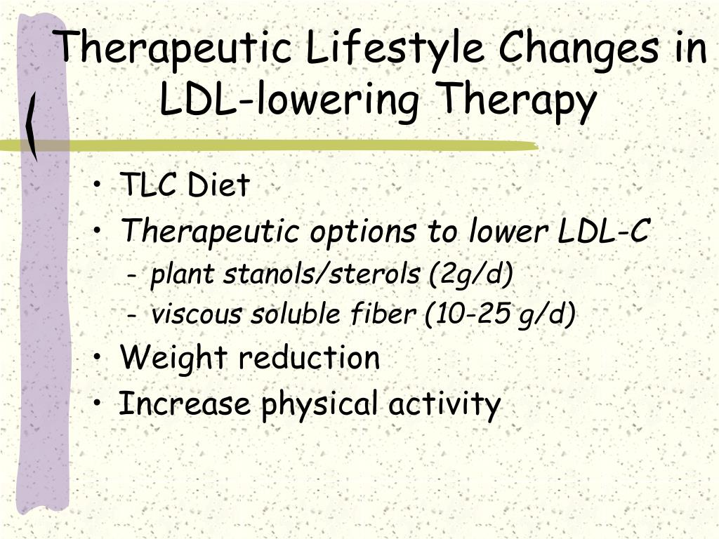 Therapeutic Lifestyle Changes in LDL-lowering Therapy