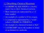1 2 describing chemical reactions