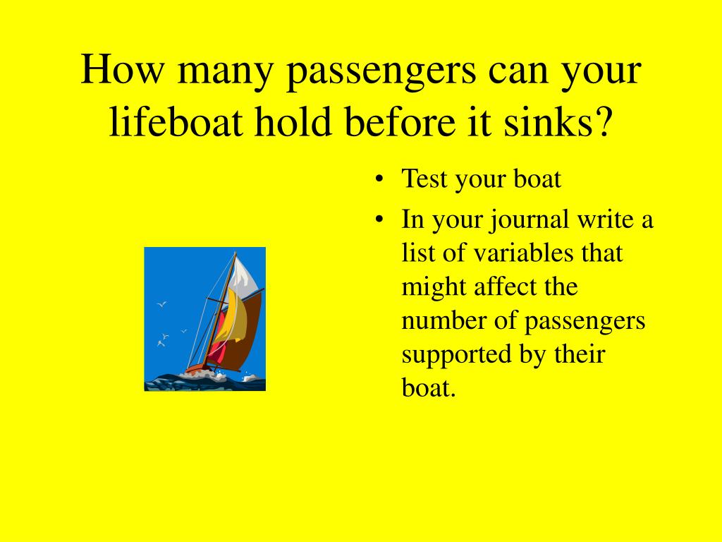 How many passengers can your lifeboat hold before it sinks?