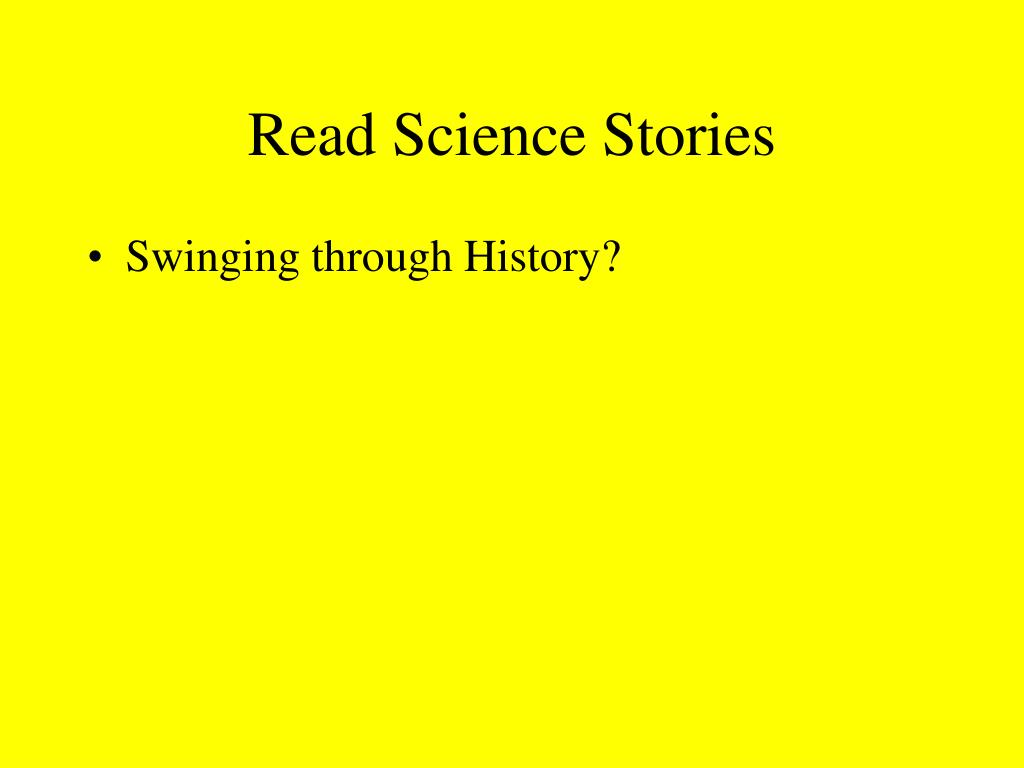 Read Science Stories