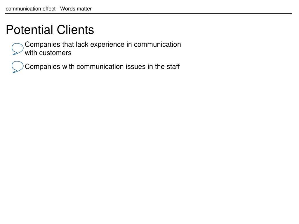 communication effect - Words matter