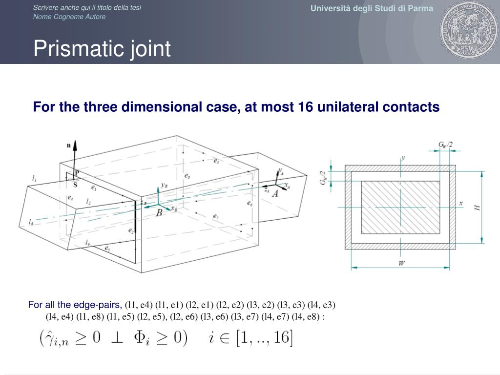 Prismatic joint