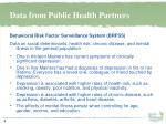 data from public health partners