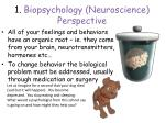 1 biopsychology neuroscience perspective