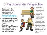 3 psychoanalytic perspective