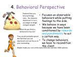 4 behavioral perspective