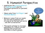 5 humanist perspective