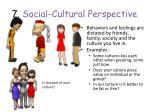 7 social cultural perspective