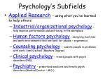 psychology s subfields32