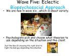 wave five eclectic biopsychosocial approach