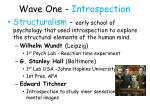 wave one introspection9