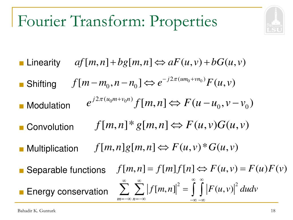 Fourier Transform: Properties