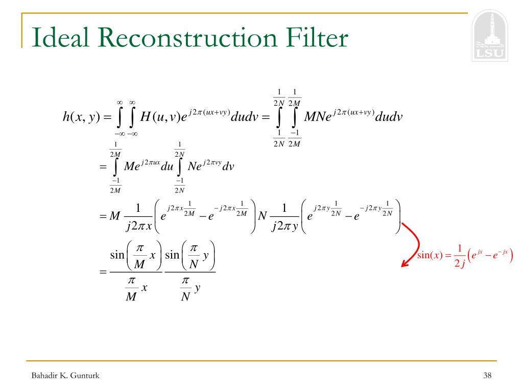 Ideal Reconstruction Filter