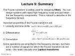 lecture 9 summary