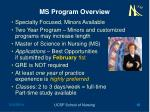 ms program overview