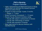 phd in nursing program overview