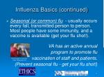 influenza basics continued