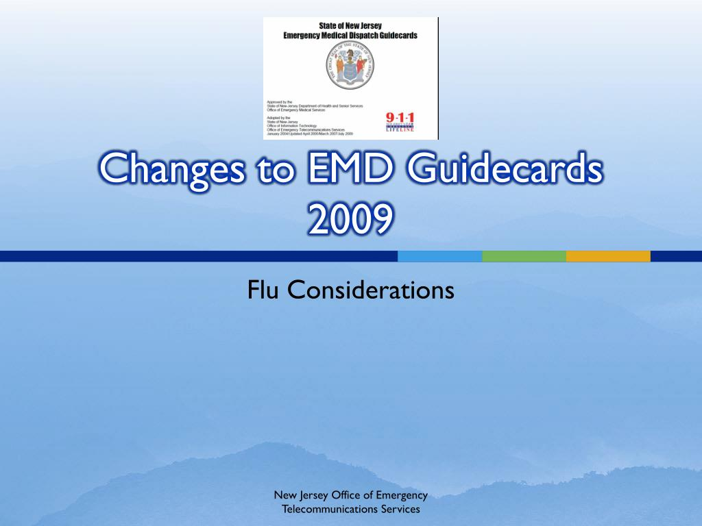 changes to emd guidecards 2009 l.