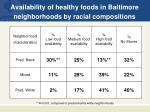 availability of healthy foods in baltimore neighborhoods by racial compositions