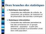 deux branches des statistiques