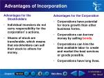 advantages of incorporation
