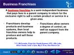 business franchises