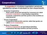 cooperatives
