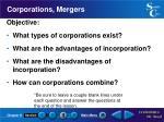 corporations mergers