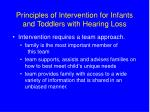 principles of intervention for infants and toddlers with hearing loss7
