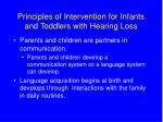 principles of intervention for infants and toddlers with hearing loss8