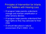 principles of intervention for infants and toddlers with hearing loss9