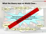 what the theory says on world class