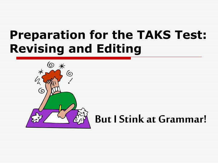 preparation for the taks test revising and editing n.