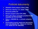 politick dokumenty