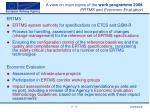 a view on main topics of the work programme 2008 ertms and economic evaluation