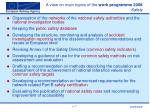 a view on main topics of the work programme 2008 safety