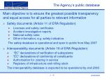 the agency s public database