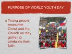 purpose of world youth day