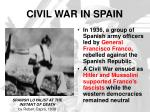 civil war in spain