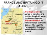 france and britain go it alone