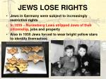 jews lose rights