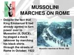 mussolini marches on rome