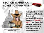 section 4 america moves toward war