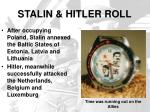 stalin hitler roll